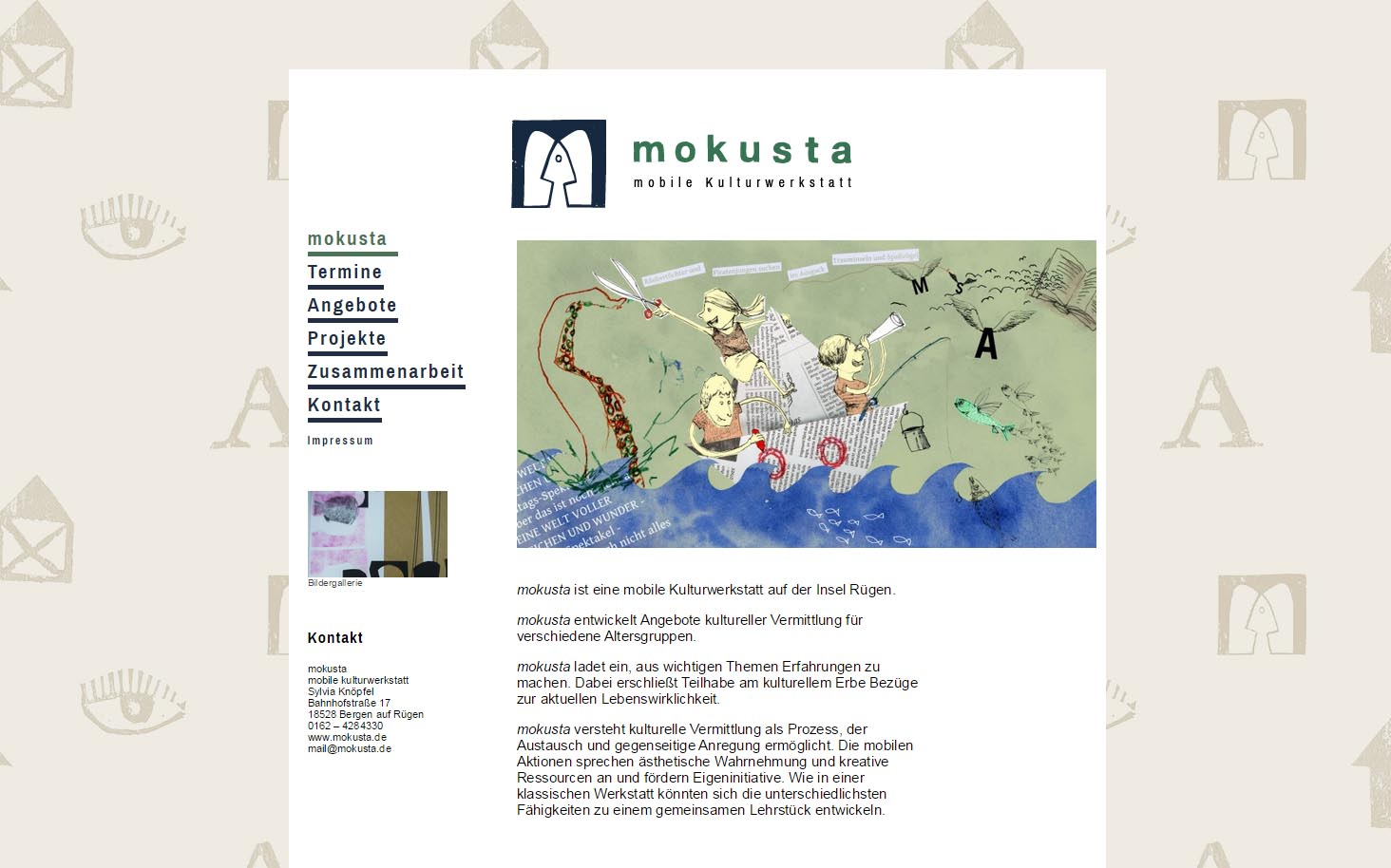 Webseite-mokusta